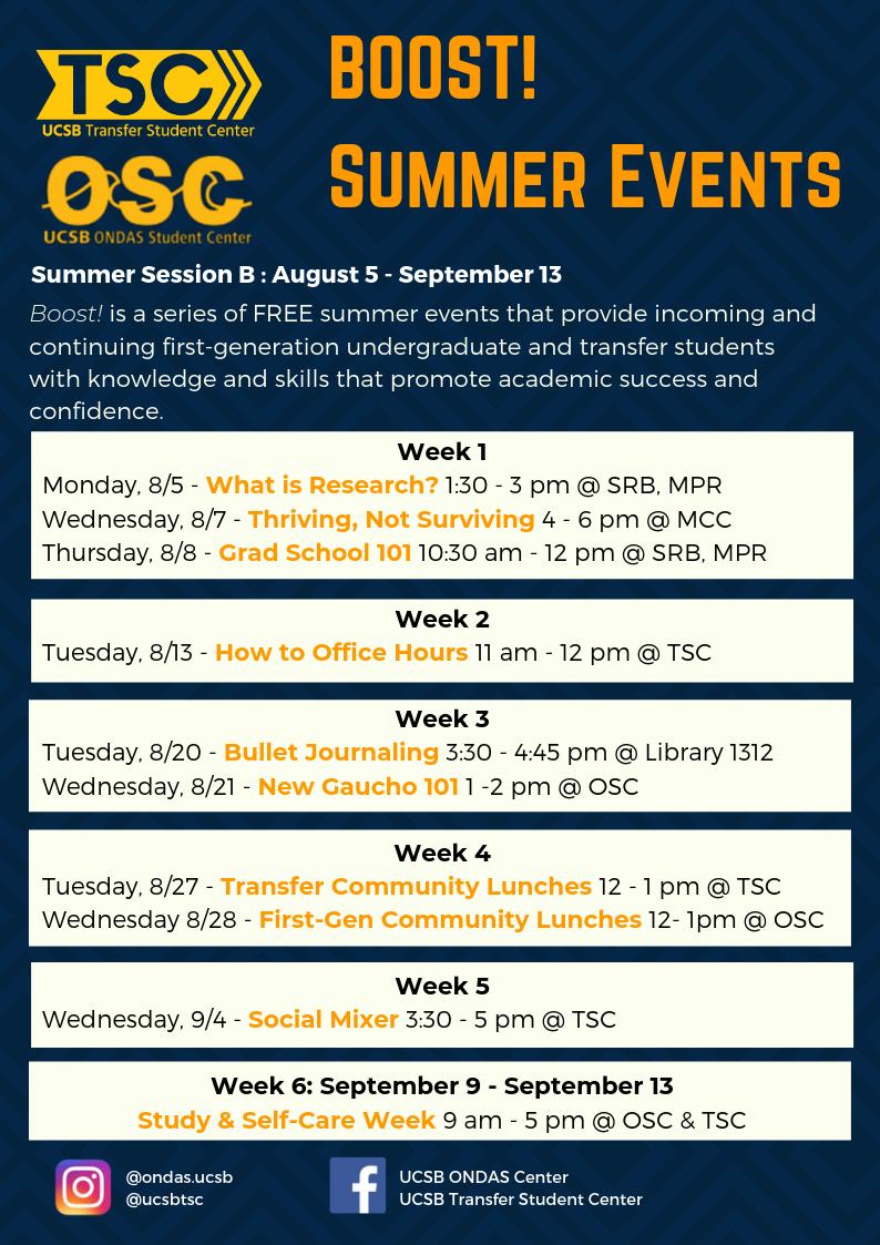 Summer Programs | Transfer Student Center - UC Santa Barbara