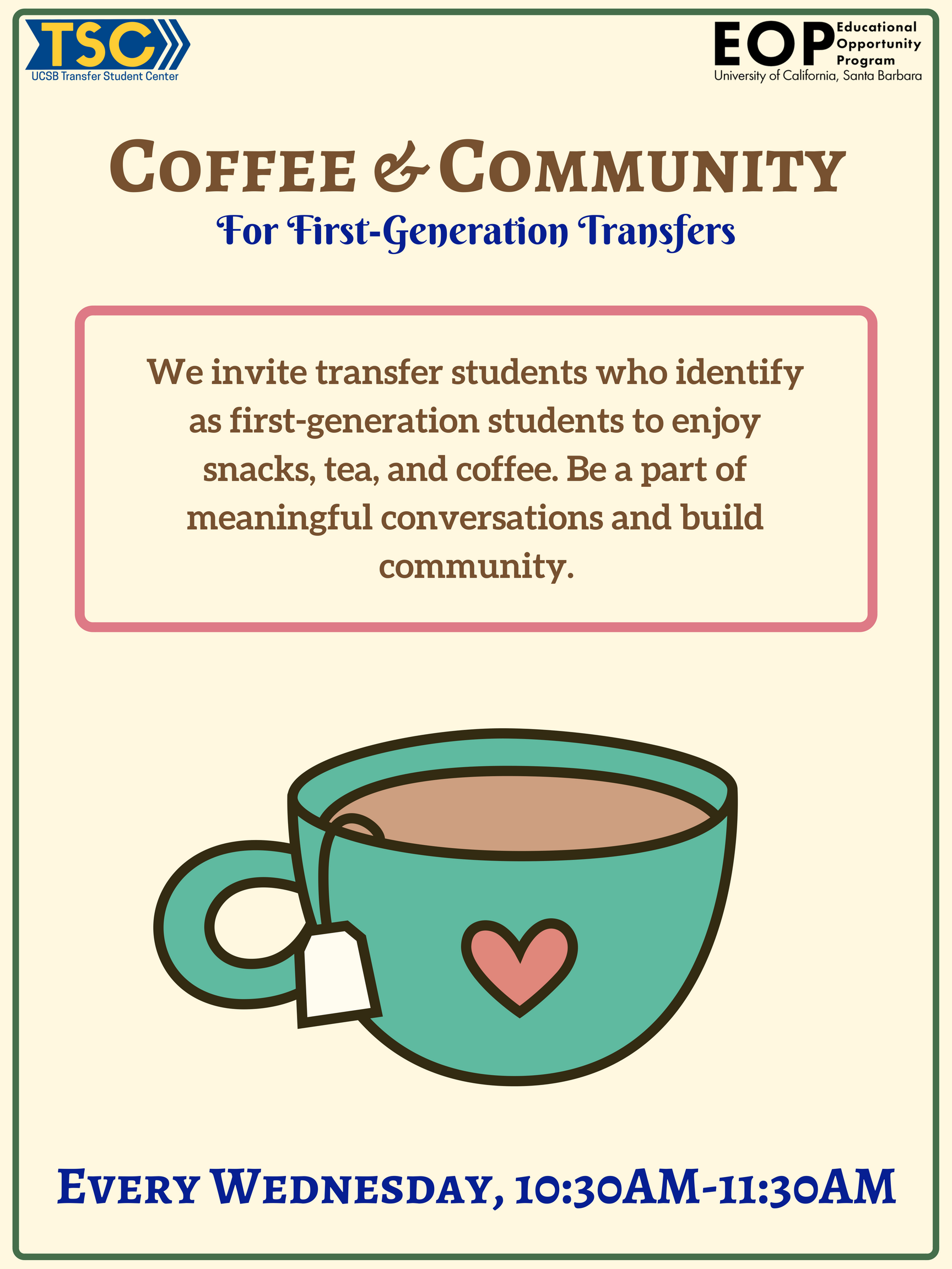 Coffee and Community with EOP flyer